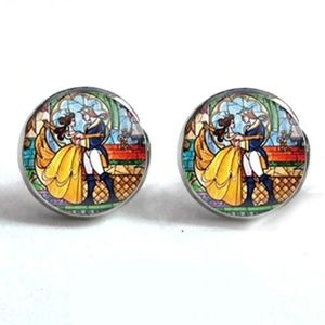 Jewelry - NEW Beauty and the Beast Round Stud Earrings
